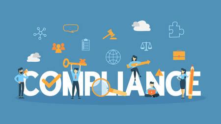 Compliance concept illustration. Vetores