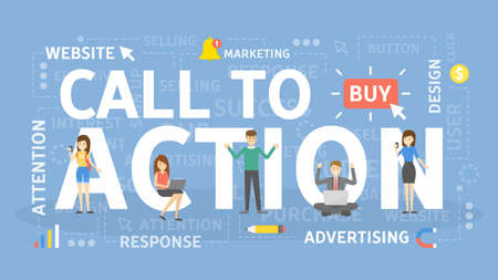 Call to action. Illustration