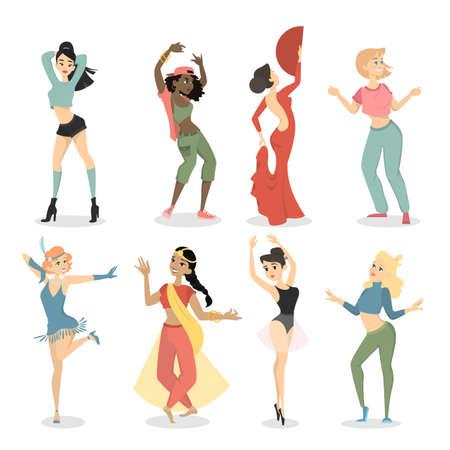 Female dancers set.