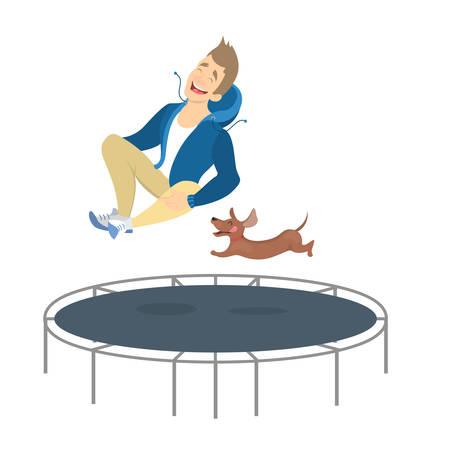 People on trampoline.