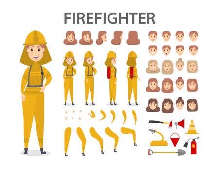 Firefighter character set.