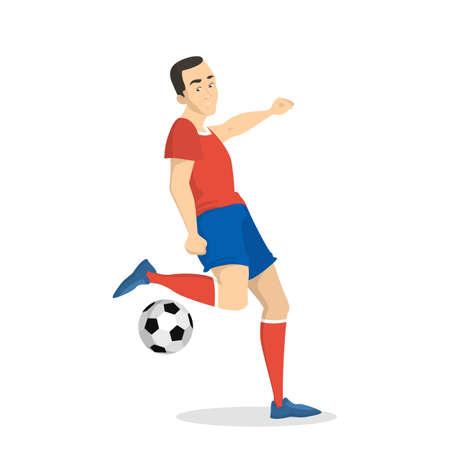 Soccer player set.