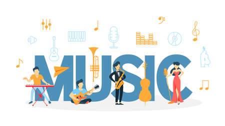 Music concept illustration.
