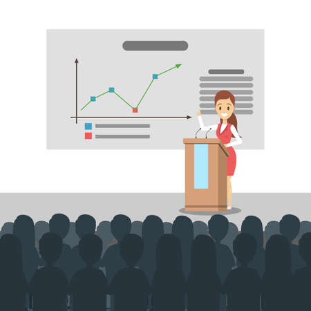 Business presentation illustration.
