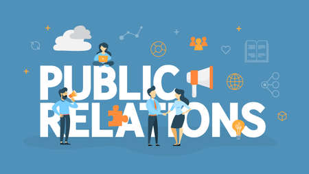 Public relations concept illustration