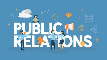 Public relations concept illustration