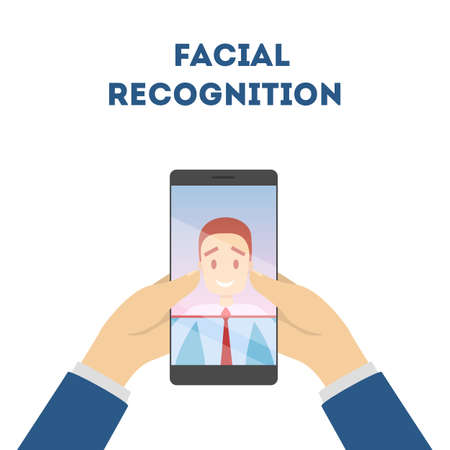 Face recognition app 向量圖像