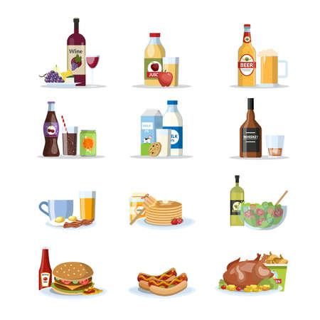 Food and drinks set