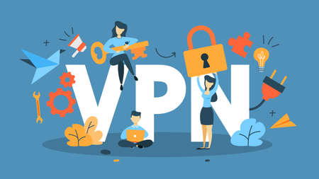 VPN concept illustration Stock Photo