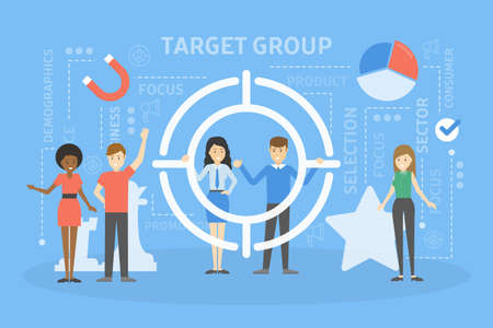Target group concept illustration Stock Photo