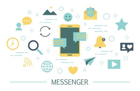 Messenger concept illustration Stock Photo