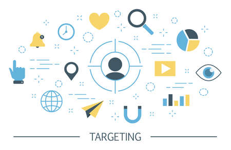 Targeting concept illustration Illustration