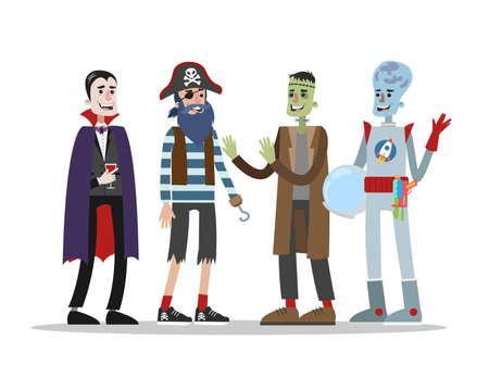 Halloween costumes set Illustration