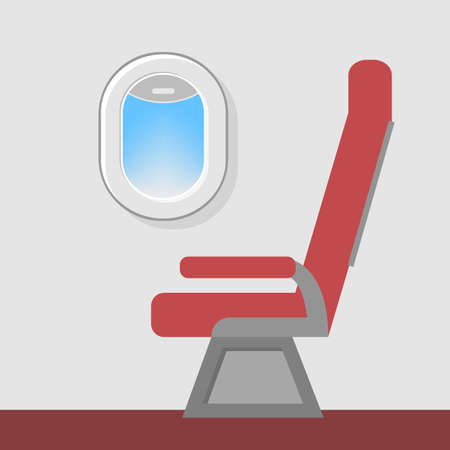 Seat at the airplane window