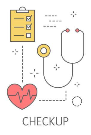 Koncepcja sprawdzania zdrowia. Badanie lekarskie i diagnoza.