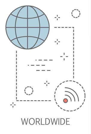 Worldwide concept. Idea of modern technology and online international communication.