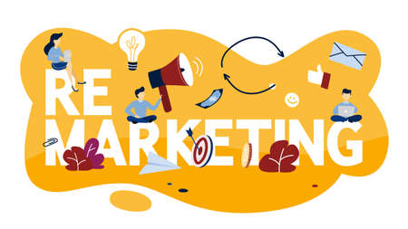 Remarketing concept illustration. Business strategy or campaign for sales increase. Isolated flat vector illustration 向量圖像
