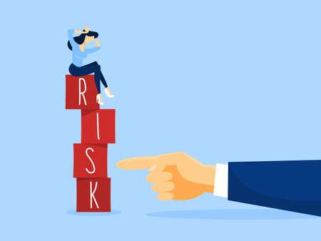 Risk concept illustration. Business challenge and balance.