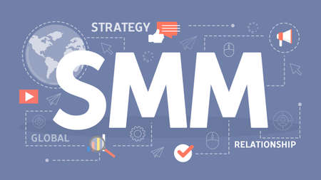 SMM concept. Business advertising in the internet.