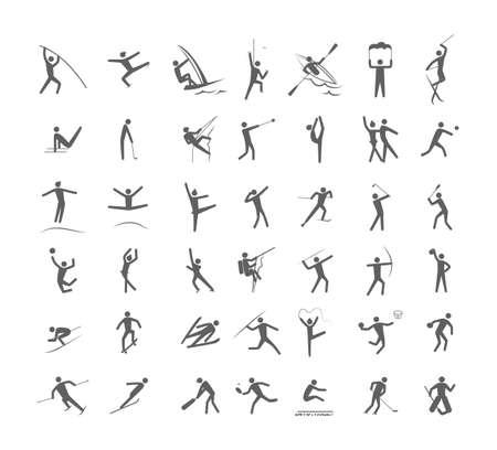 Big set of the sport games Illustration