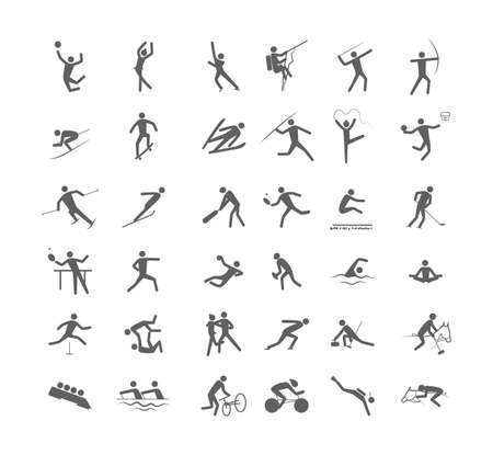 Big set of the sport games Stock Illustratie