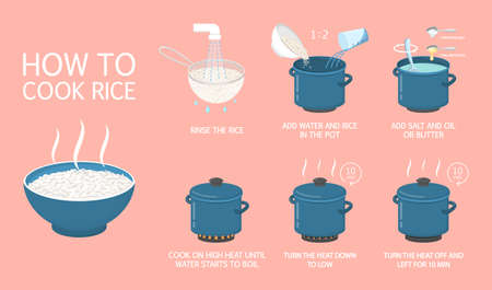 How to cook rice an easy recipe 일러스트