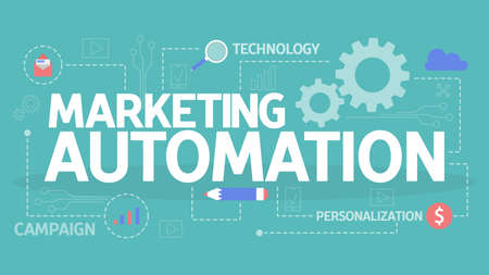 Marketing automation concept illustration. Idea of technology