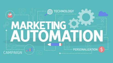 Marketing automation concept illustration. Idea of technology