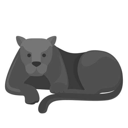 Black panther danger wild animal vector illustration