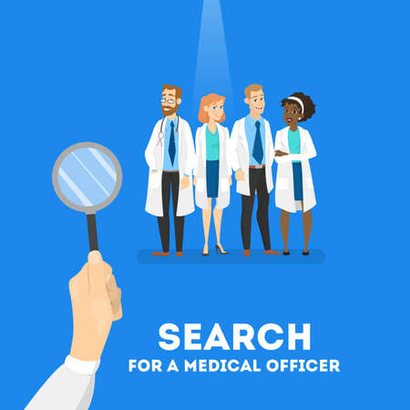 Buscando un concepto médico. Necesidad del trabajador del hospital. Ilustración de vector