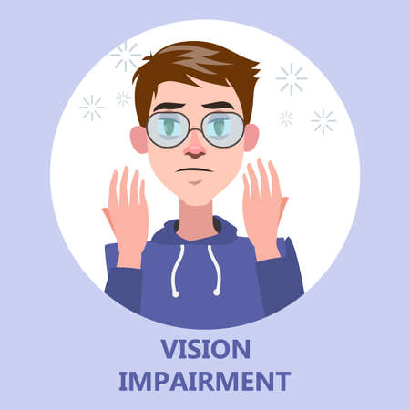 Visual impairment as a symptom of disease Illustration