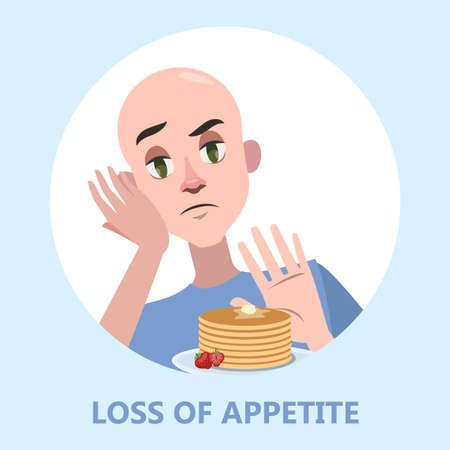 Man with food aversion or eating disorder