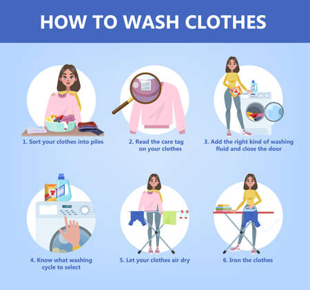 How to wash clothes step-by-step guide for housewife
