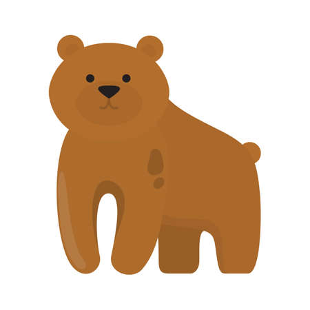 Brown bear wild animal from the forest. 向量圖像