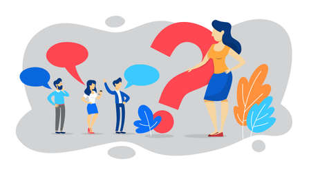 FAQ or question and answer concept. Customer help Иллюстрация