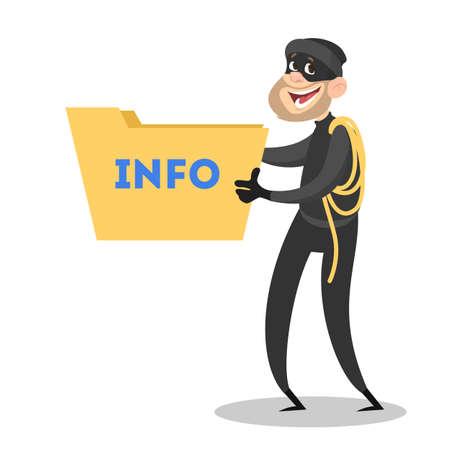 Voleur voler des données personnelles. Cybercriminalité et piratage
