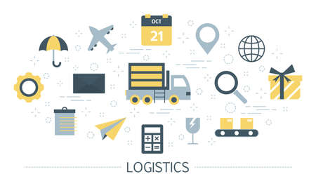 Logistic and delivery service concept. Idea of transportation Illustration
