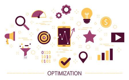 Optimization concept. Idea of improvement and development