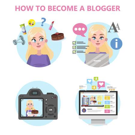 How to become a good blogger infographic Ilustração