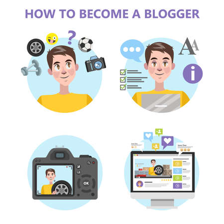 How to become a good blogger infographic