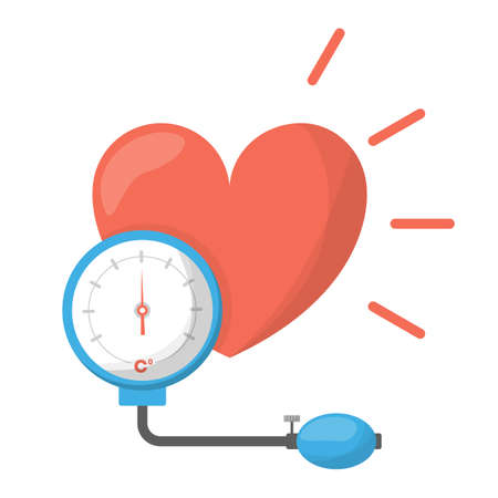 Blood pressure concept. Icon of a heart