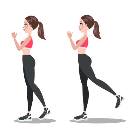 Woman making exercise for butt. Leg workout