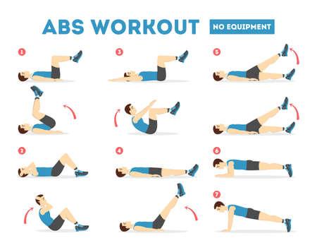 Entrenamiento ABS para hombres. Ejercicio para un cuerpo perfecto