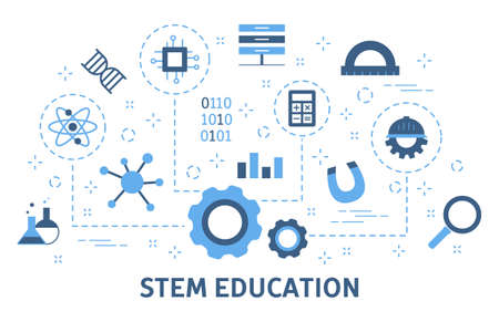 STEM concept. Science, technology, engineering and mathematics