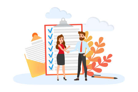 Two people shaking hands. Business deal and partnership. Idea of teamwork and agreement. Isolated flat vector illustration  イラスト・ベクター素材