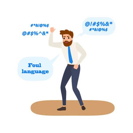 Foul language and swear words. Bad behavior Illustration