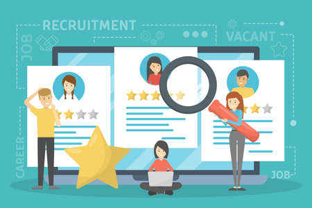 Recruitment concept. Idea of employment and human