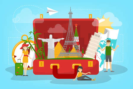 Travel concept. Idea of tourism around the world. Vacation