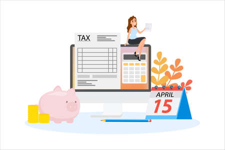 Tax concept. Idea of accounting and payment. Financial