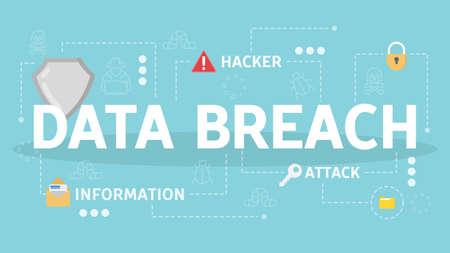 Data breach concept. Idea of cyber attack. Hacker steal